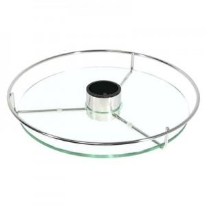 Полка круглая со стеклом